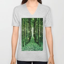 Magical Forest Green Elegance Unisex V-Neck