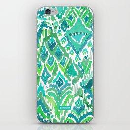 Spring TEMPLE TRIBAL Green Ikat iPhone Skin