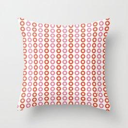 Rose Orange 01 Throw Pillow