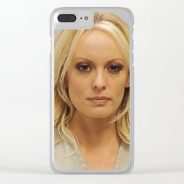 Stormy Daniels Mug Shot Clear iPhone Case