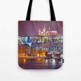 Prague-winte night Tote Bag