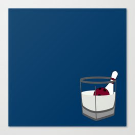 Hey, careful, man, there's a beverage here!  Canvas Print