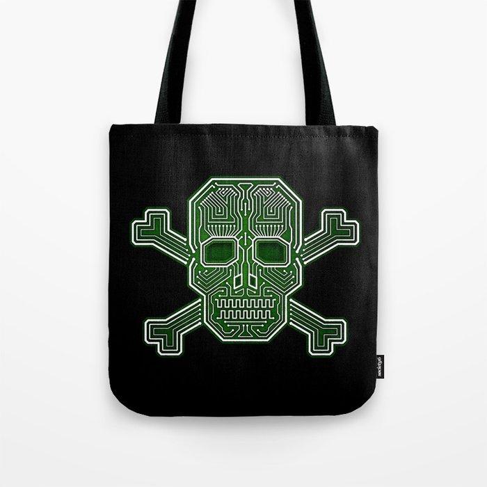Hacker Skull Crossbones (isolated version) Tote Bag