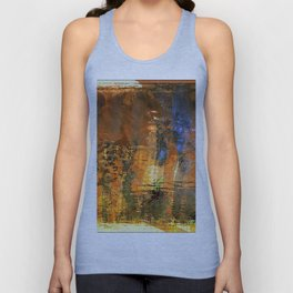 arizona desert Burnt Orange with Blue Unisex Tank Top