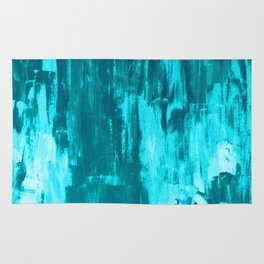 Bright Blue Snow Nights with Icicles Rug