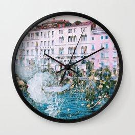 Venice in Dahlia Wall Clock