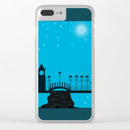Winter night . Christmas. Clear iPhone Case