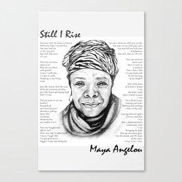Still I Rise Print Maya Angelou Poem Canvas Print