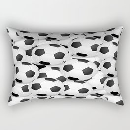 Soccer Ballls Rectangular Pillow