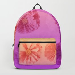 Purple Gradient Flower Grid Backpack
