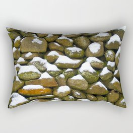 Stone Cold - Snowy Stones - Rock Art Rectangular Pillow