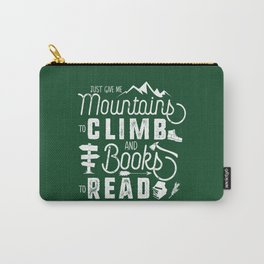 Moutnains & Books - Inverse Carry-All Pouch