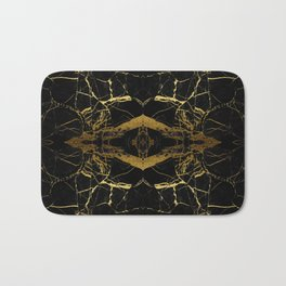 Black & Gold Bath Mat
