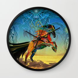 The Wind of Time (Red Horse) Wall Clock