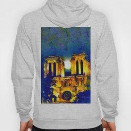 Notre Dame de Paris Full Moon Hoody
