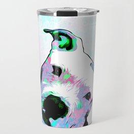 Pit bull - Puzzled - Pop Art Travel Mug