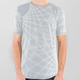 mathematical rotating roses - ice gray All Over Graphic Tee