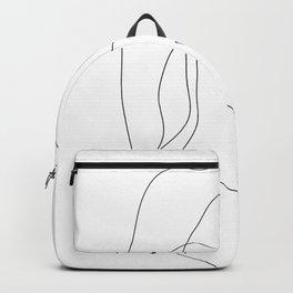 Minimal Line Art One Line Female Figure II Backpack