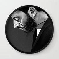 leon Wall Clocks featuring Leon by Ruben Ireland