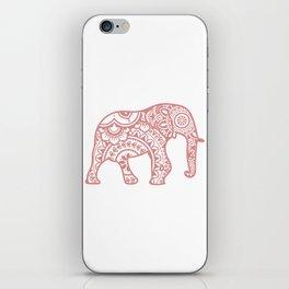 Mandala Elephant - Peach Palette iPhone Skin