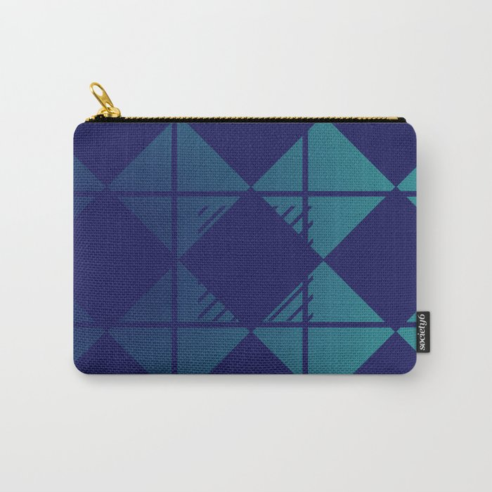 Blue,Diamond Shapes,Square Carry-All Pouch