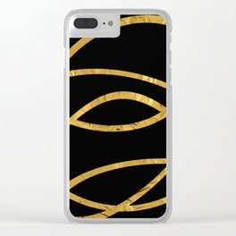 Golden Arcs - Abstract Clear iPhone Case