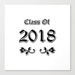 Class Of 2018 Canvas Print