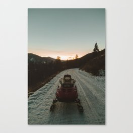 Snow Mobile Canvas Print