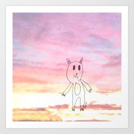 #LOVECAT - Shifty Catter  Art Print