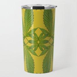 Marijuana Leaf Pattern Travel Mug