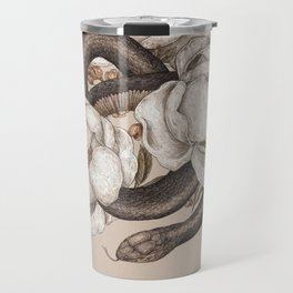 Snake and Peonies Travel Mug