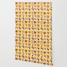 Rainbow Print Shells Wallpaper