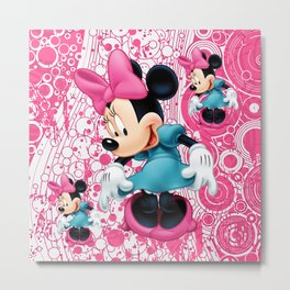Minnie Mouse Cartoon Metal Print