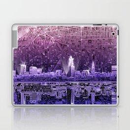 cleveland city skyline Laptop & iPad Skin