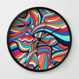 African Style No24, Sahara echoes Wall Clock