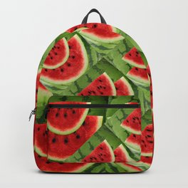 CONTEMPORARY ABSTRACT RED WATERMELONS GREEN  ART Backpack