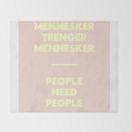 SKAM - People need people Throw Blanket