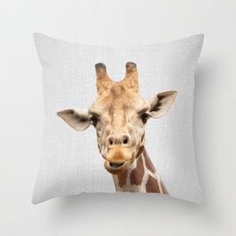 Giraffe 2 - Colorful Throw Pillow