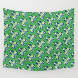 CUBIC LEAVES Wall Tapestry