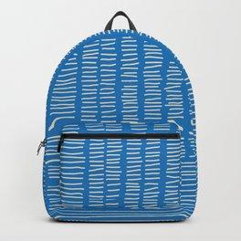 Digital Stitches detail 1 blue Backpack