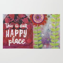 This is Our Happy Place Collage Rug