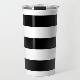 BLACK & WHITE STRIPES XL Travel Mug