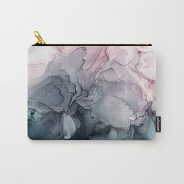 Blush and Payne's Grey Flowing Abstract Painting Carry-All Pouch