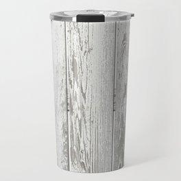 Wood Slatted plank fence background Travel Mug