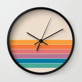 Boca Spring Stripes Wall Clock