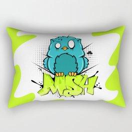 Zombie owl graffiti Rectangular Pillow