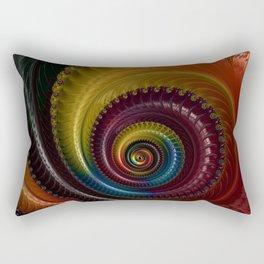 Jewel Silk Spiral Rectangular Pillow
