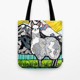 Llama and Andes Tote Bag