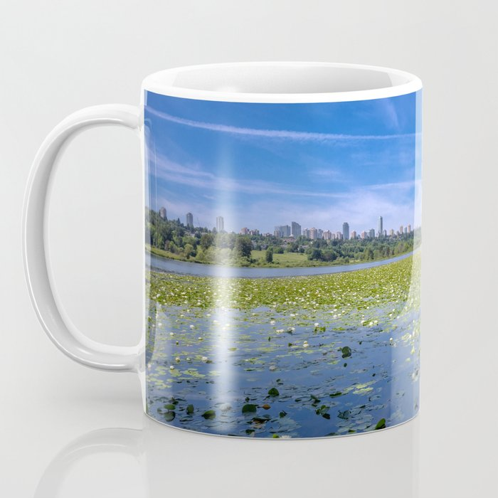 Forest lake in the city Coffee Mug