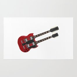 Double Neck Guitar Rug
